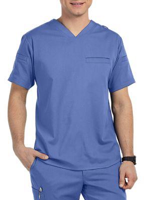 Grey's Anatomy Spandex Stretch Men's 3-Pocket V-Neck Scrub Tops