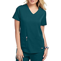 Grey's Anatomy Spandex Stretch V-Neck 4 pocket Tops