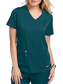 4 Pocket V-Neck Top