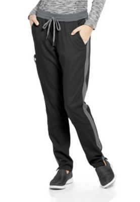 Grey's Anatomy Spandex Stretch Color Block Cargo Scrub Pants