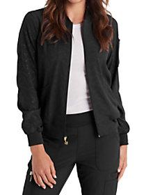 Embossed Zip Front Jacket