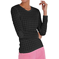 HeartSoul Heart On Her Sleeve Houndstooth Burnout Underscrub