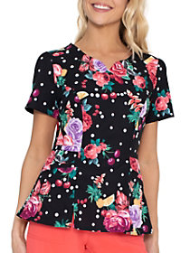 Floral-Ever Fruity Peplum Top
