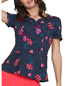 Love's In Bloom V-Neck Print Top