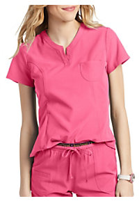 66426b870c4 See Details item #HS710 · HeartSoul Roxy Henley V-Neck Scrub Top