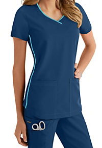 Jockey Contrast Piped Trim Scrub Tops