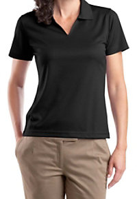 Sport-Tek Ladies V-neck Dri-mesh Polo Shirt