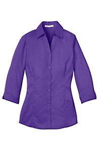 Port Authority Ladies 3/4 Length Sleeve Wrinkle Resistant Blouse