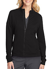 Ariel 2 Pocket Mock Neck Zip Front Jacket