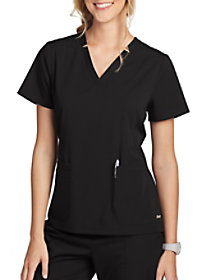 Claire 3 Pocket V-Neck Hi-Low Hem Top