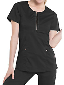 Diva Zip Front Tunic Top