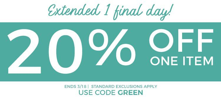 Extended 1 Final Day 20% off