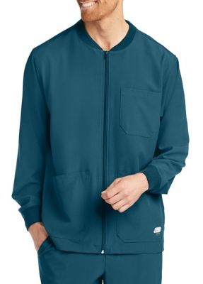 Skechers Men's Structure 3 Pocket Warm Up Zip Front Scrub Jackets