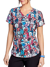 Best Friends V-Neck Print Top