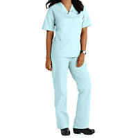 Natural Uniforms Unisex Two Piece Solid Scrub Set