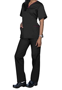 Natural Uniforms Rounded V-neck Two Piece Scrub Set