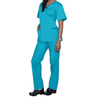 Natural Uniforms V-neck Two Piece Scrub Set