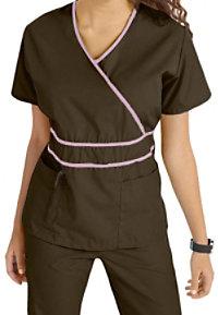 Natural Uniforms Mock-wrap Two Piece Scrub Set