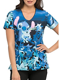 Stitch And Scrump V-Neck Print Top