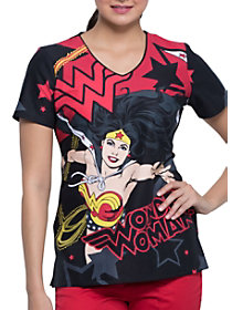 Wonder Power V-Neck Print Top