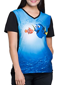 Dory and Nemo V-Neck Print Top