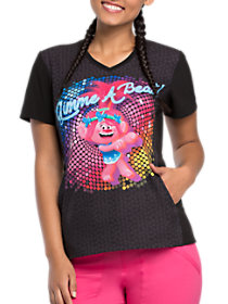 Gimme A Beat V-Neck Print Top