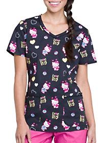 Hello Ladybug V-Neck Print Top