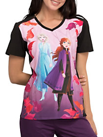 Frozen 2 V-Neck Print Top