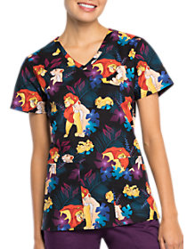 Lion King Family Pride V-Neck Print Top