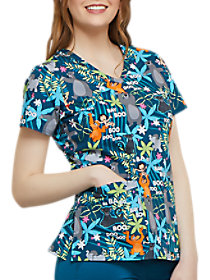 Jungle Jazz V-Neck Print Top