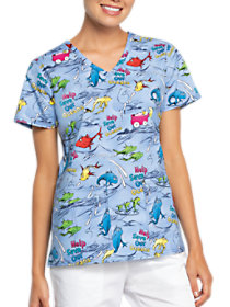 Save Our Oceans V-Neck Print Top