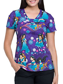 Jasmine and Abu Print Top