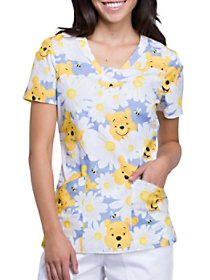 Peek A Pooh Print Top