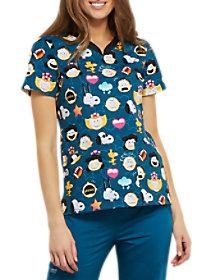 Peanuts Emoji V-Neck Print Top