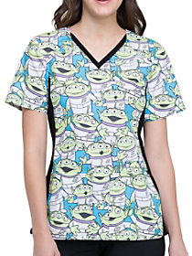 Alien Life Form V-Neck Print Top