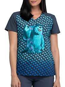 Monsters Inc. V-Neck Print Top