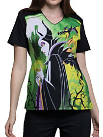 Maleficent V-Neck Print Top