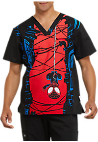 69ea80e4b07 See Details item #TF700LH · Cherokee Tooniforms Men's Let's Hang V-neck  Print Scrub Tops