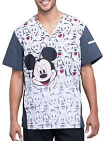 Mickey and Friends V-Neck Print Top