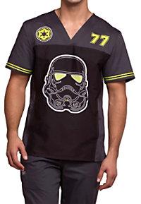 0642355780f See Details item #TF702TR · Cherokee Tooniforms Men's Trooper V-neck Print Scrub  Tops