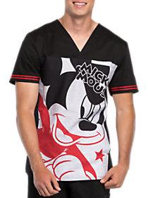 Mickey Star V-Neck Print Top