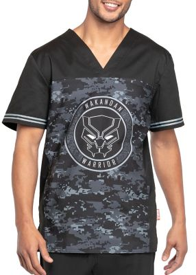 Wakandan Warrior V-Neck Print Top