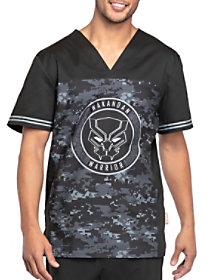 Wakandan Warrior V-Neck Print Top