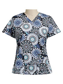 Mimosa Medallion Pewter Print Top