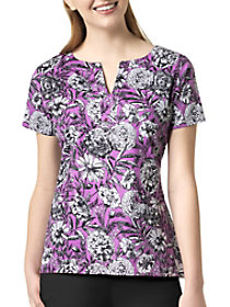 Violet Meadow V-Neck Print Top