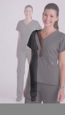 d592ede12fd Product Video. prev. next. Product Video; Vera Bradley Halo Frida V-neck  Empire Waist Scrub Tops ...
