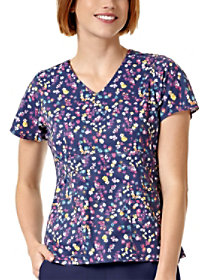 Spring Wildflowers Ditsy V-Neck Print Top
