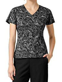 Wildflower Grove Black V-Neck Print Top