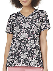 Holland Garden Pewter V-Neck Print Top