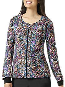 Print Zip Front Jacket